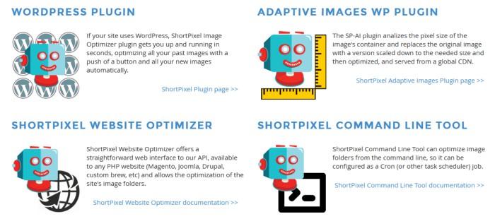 shortpixel available developer tools