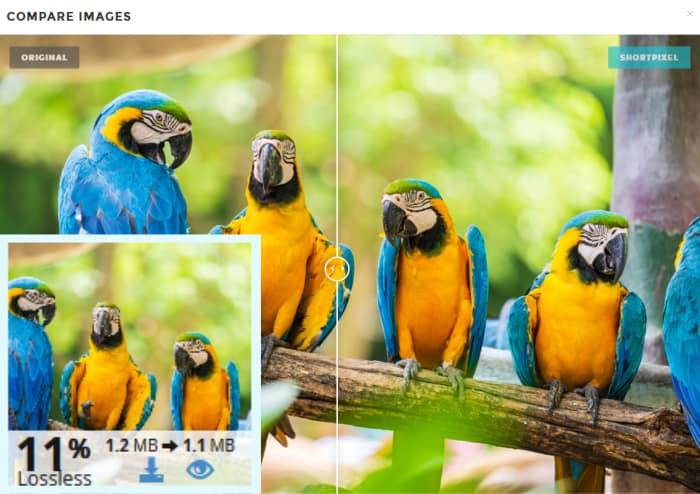 shortpixel lossless image compression comparison