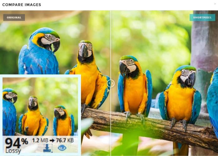 shortpixel lossy image compression comparison